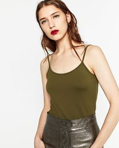 ZARA - WOMAN - T-SHIRT WITH THIN STRAPS
