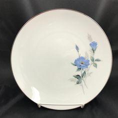 1 Noritake China Sylvia 6603 Salad Dinner Plate Made Japan Blue Flowers #NoritakeChina
