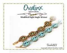 Right Angle Weave 2 Way Bracelet  Beading Tutorial by Studio183