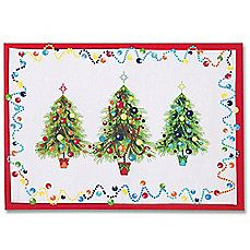 Fiesta Holiday Gatherings Placemat  ~  Colorful placemats with my clear glass plates