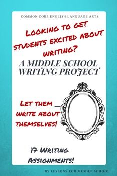 This Middle School Writing Unit includes 17 writing activities and topics to teach middle school students to become more reflective writers.  Students will learn how to compare and contrast scenarios, examine points of view, and reflect upon these experiences in their writings This unit will provide students an opportunity to practice their writing skills in a fun and reflective manner.