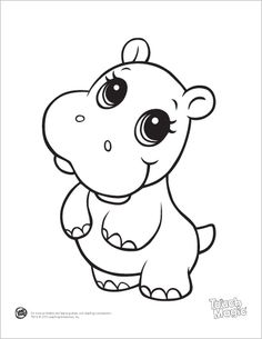 Printable Baby Hippo Coloring Pages - Printable Coloring Pages For Kids Coloriage hippopotame Baby Hippo, Cute Hippo, Baby Animals, Cute Animals, Baby Sheep, Anime Animals, Animal Coloring Pages, Coloring Book Pages, Printable Coloring Pages