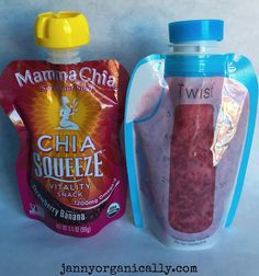 •4 oz Organic Pure Apple Juice (no sugar added) •4 oz Filtered Water •4 Organic Strawberries •1 Small Organic Beet or 1/2 Medium Beet, peeled and cubed (optional - can omit if you are concerned about stains. Small kids can do that.) •1 Organic Banana (Ripe, but not mushy) •3 Tablespoons Organic Chia (I use Nutiva)