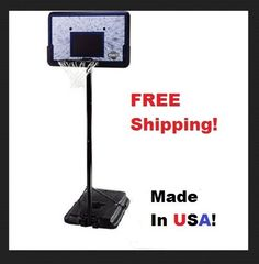 "Portable Basketball Hoop Height Adjustable 44"" Polyethylene Base Hard Steel Rim  #Lifetime"