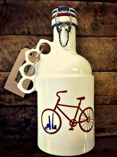 64oz Stoneware Growler  The Peacemaker with Custom Image by GooseCreekGrowlers, $75.00