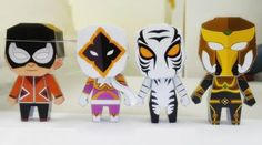 PAPERMAU: Four Thailand Super Heroes Paper Toys - by Tonchat Jaizue