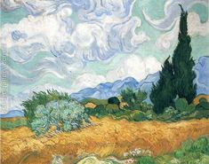 Wheat Field with Cypresses 1889 Vincent Van Gogh Reproduction | 1st Art Gallery