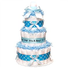 A personal favorite from my Etsy shop https://www.etsy.com/listing/224077735/3-tier-boy-or-girl-baby-shower-diaper