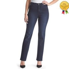 Gloria Vanderbilt Womens Jeans Straight Perfect Slimming Embroidered size 6 NEW #GloriaVanderbilt #StraightLeg Gloria Vanderbilt, Business Casual Jeans, Suits, How To Wear, Women, Fashion, Moda, Outfits, Fashion Styles
