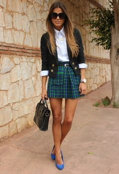 Houndstooth  , Zara in Skirts, Zara in Heels / Wedges, Massimo Dutti in Shirt / Blouses, dresslux in Bags