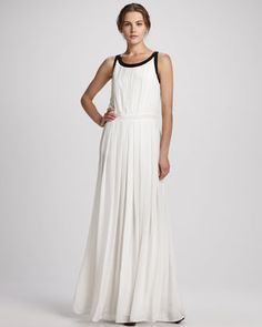 Braden Pleated Two-Tone Gown at CUSP.