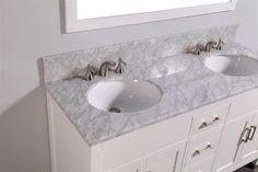 White Bathroom Vanities With Marble