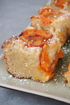 Carrés à l'Abricot, Ricotta Amandes / Apricot, Ricotta Almond Squares... a faire avec moins de beurre
