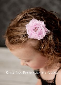 Pink Shabby Chic Hair Clip by Stitched4Ewe    Shabby Chic is all the rage right now! Your little girl will be the talk of the town in this beautiful clip.