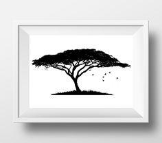 Baobab tree print, africa wall art, african art, safari wall art, nature print, madagascar, african baobab, black wall art by DesignsByLittlePitti on Etsy https://www.etsy.com/listing/289609643/baobab-tree-print-africa-wall-art