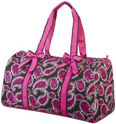 Ever Moda Pink Paisley Print Quilted Duffle Bag 21inch * Check out the image by visiting the link. (Note:Amazon affiliate link)