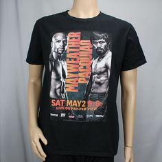 Floyd Mayweather Jr Manny Pacquiao Large Black T-Shirt Boxing May 2 2015 PPV  #Gildan #GraphicTee