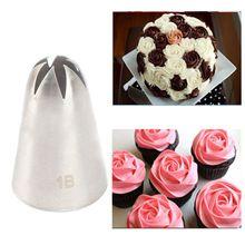 #1B Large Size Cream Nozzle Decorating Tip Icing Nozzle Cake & Baking Tools for Cake Fondant Decorating Nozzle Bakeware(China)