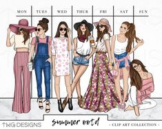 craft sale items Fashion Girl Clip Art Bundle Watercolor Clipart PNG Hand Drawn Illustration Set Outfit Summer Style Planner Sticker Artwork Mauve Denim OOTD A set of trendy fashion g New Fashion, Trendy Fashion, Fashion Art, Girl Fashion, Fashion Outfits, Style Fashion, Stylish Outfits, Retro Fashion 60s, Fashion Blouses