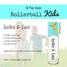 Soothing, Rollerball blends for kids, essential oils