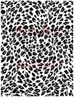 Oozak.com | Background Stamps | DPR46-04236 | DEEP RED STAMPS - Cling Rubber Background Stamp, LEOPARD PRINT