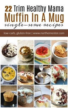 22 Trim Healthy Mama Muffin In A Mug Recipes, Desserts, A collection of 22 Trim Healthy Mama Muffin In A Mug recipes that are sweet, savory, and simple! All it takes is 3 minutes to whip up an on-plan snack. Trim Healthy Mama Plan, Trim Healthy Recipes, Healthy Breakfast Recipes, Breakfast Ideas, Diet Recipes, Healthy Breakfasts, Cream Recipes, Breakfast Muffins, Healthy Tips