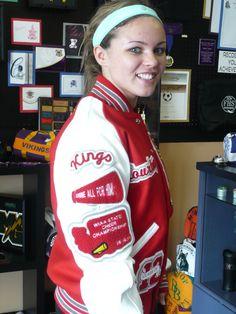 Red Letterman Jacket #Knights #Kings #Cheer