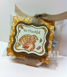 Thanksgiving Cello Bag with Chocolates