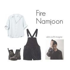 doing a cover dance // namjoon fire
