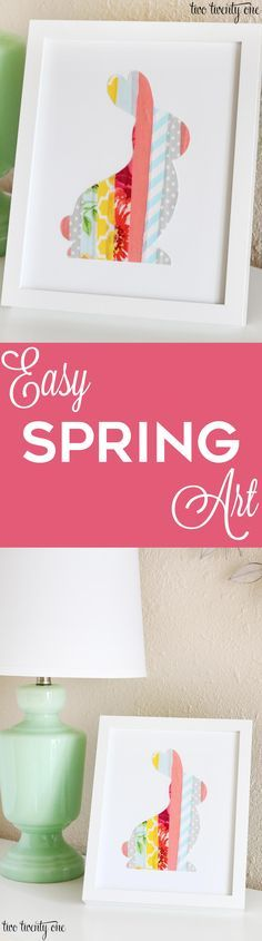 Easy to make spring art! Perfect decor for spring or Easter! #ad