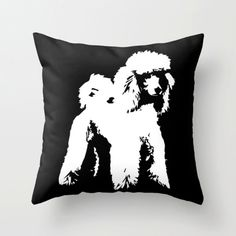 """Receive fantastic tips on """"poodle pups"""". They are on call for you on our internet site. Black White Nursery, Nursery Decor, Room Decor, Dog Throw, White Throw Pillows, Decorative Cushions, Black Decor, New Baby Gifts, New Baby Products"""