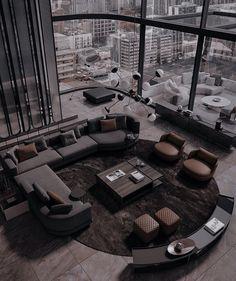 Home Room Design, Dream Home Design, Modern House Design, Home Interior Design, Dream House Interior, Luxury Homes Dream Houses, Dark House, Aesthetic Rooms, Dark Interiors