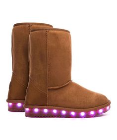 Another great find on #zulily! Tan Light-Up Boots - Kids & Adult #zulilyfinds