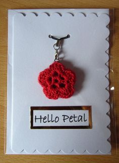 Handmade greetings card with detachable red silk by HevvyWool