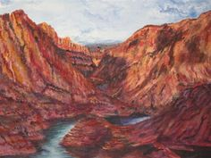 GALERIA PALOMO MARIA: CAÑON DEL ATUEL... Canon, Mendoza, Patagonia, Painting, Landscape Paintings, Argentina, Cannon, Painting Art, Paintings