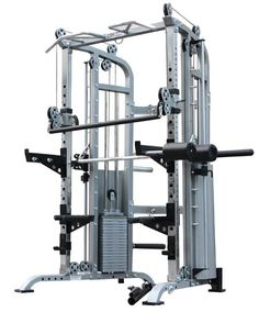 3 in 1 Smith Machine Functional Trainer Rack - World Fitness