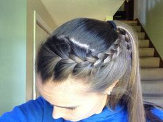 Braid into a ponytail
