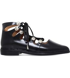 TOGA PULLA Ghillie leather ankle boots