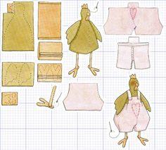 Тильда петух: выкройка мягкой игрушки для шитья
