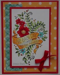 card by Jennie Black, Stamps by Stampendous