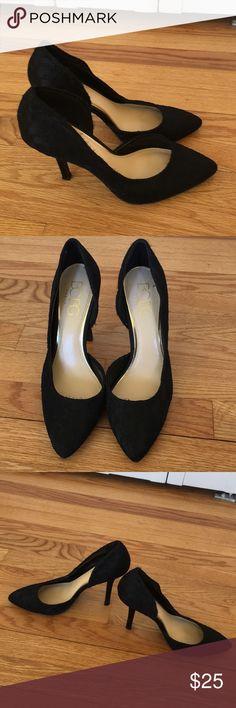 BCBG Paris heel BCBG black pumps with lace overlay. Slight wear visible in lace BCBG Paris Shoes Heels