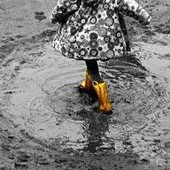 Yellow rubber boots