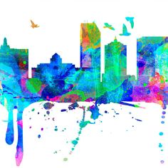 Atlantic City Skyline Watercolor Atlantic City Map Art Print Atlantic... ($39) ❤ liked on Polyvore featuring home, home decor, wall art, home & living, home décor, red, wall decals & murals, wall décor, map wall art and door decals