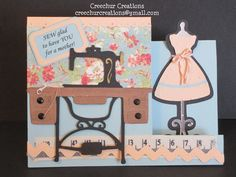 A Mother's Day card using the Cricut Country Life and Nifty Fifties cartridges