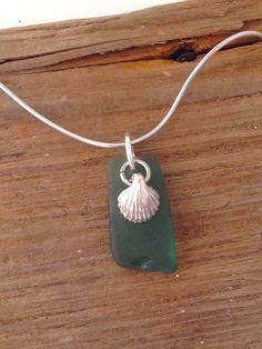 """Silberketten - 925 Silber Kette mit Seeglas-Anhänger """"Meerschaum"""" - ein Designerstück von MeerSchmuck bei DaWanda"""