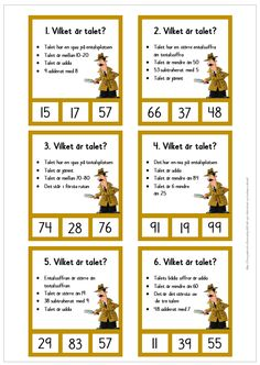 Vilket är talet? Swedish Language, Math Place Value, Math Word Problems, Future Jobs, Teaching Materials, Kids Education, Math Lessons, Games For Kids, Elementary Schools