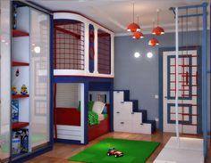Спортивный интерьер детской комнаты  (De Студия дизайна Interior Design IDEAS)
