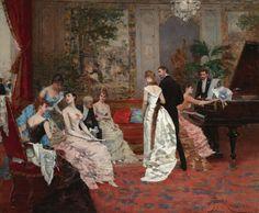 An Elegant Soiree - Francisco Miralles - 1901