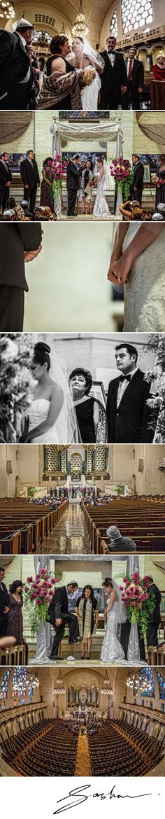 Masha and Eugene's Jewish wedding ceremony at Temple Emanuel.
