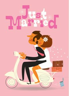 Just Married :Sean Sims illustration